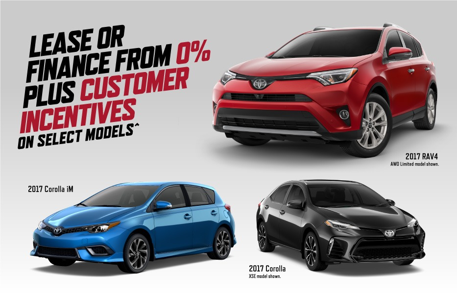 Lease Incentives February Toyota Canada Incentives in Milton Ontario, and the GTA.