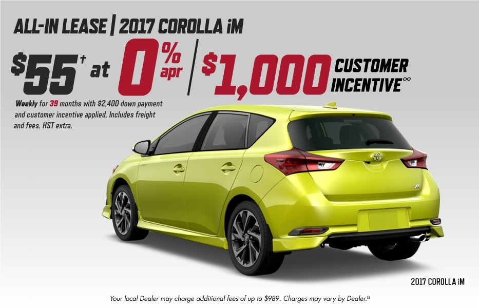 Cash Purchase February Toyota Canada Incentives in Milton Ontario, and the GTA.