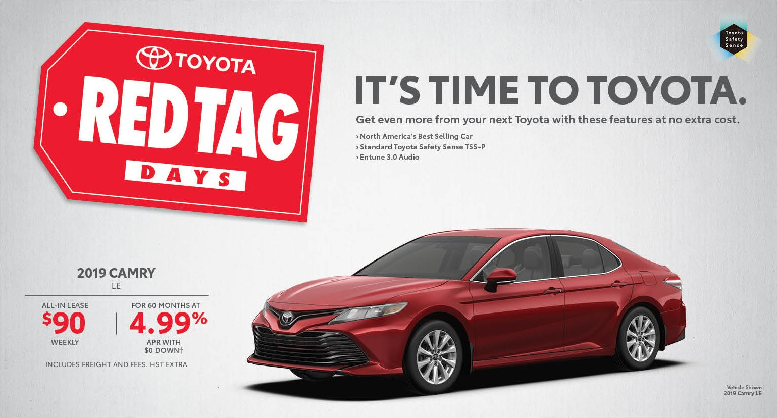 Standard Vs Full Size Car >> Red Tag Days Milton Toyota