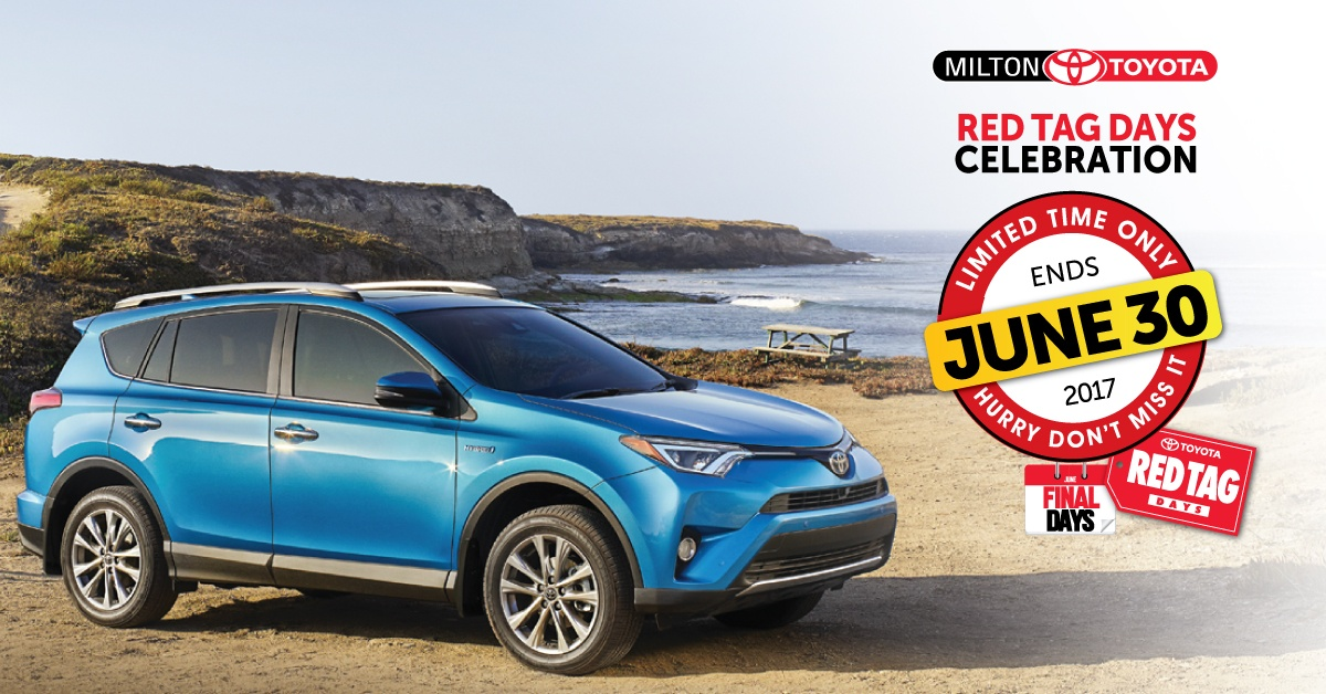 Toyota Red Tag Days Event: Toyota Canada Incentives for June 2017
