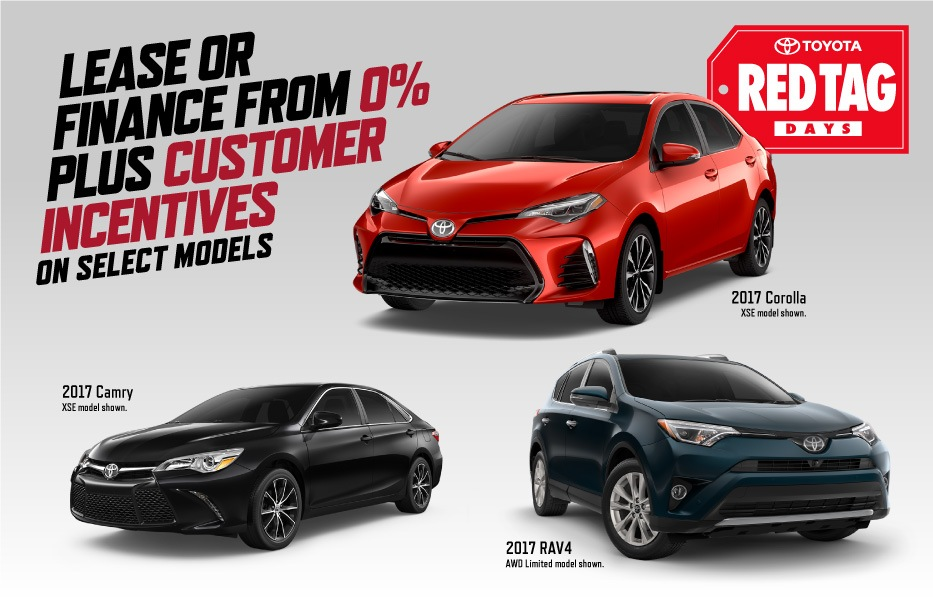 Toyota Red Tag Days at Milton Toyota in Toronto, Ontario, and the GTA