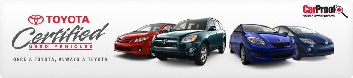 Toyota Certified Used Vehicles @ Milton Toyota