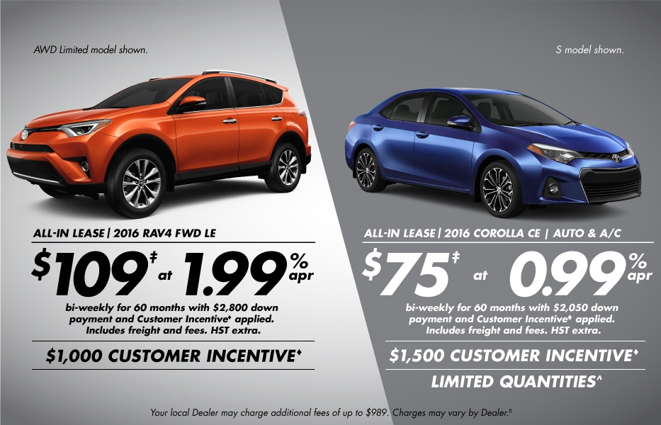 Finance August Toyota Canada Incentives in Milton Ontario, and the GTA.