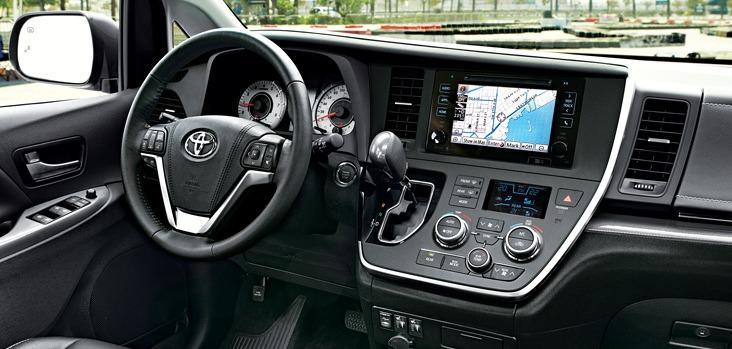 2017 Toyota Sienna Interior @ Milton Toyota in Toronto