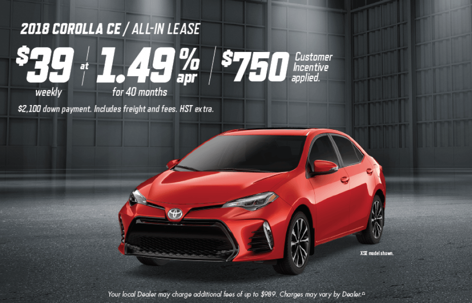 Toyota Canada Incentives at Milton Toyota