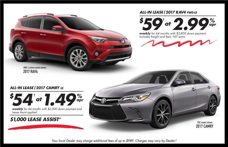 Cash Purchase December Toyota Canada Incentives in Milton Ontario, and the GTA.