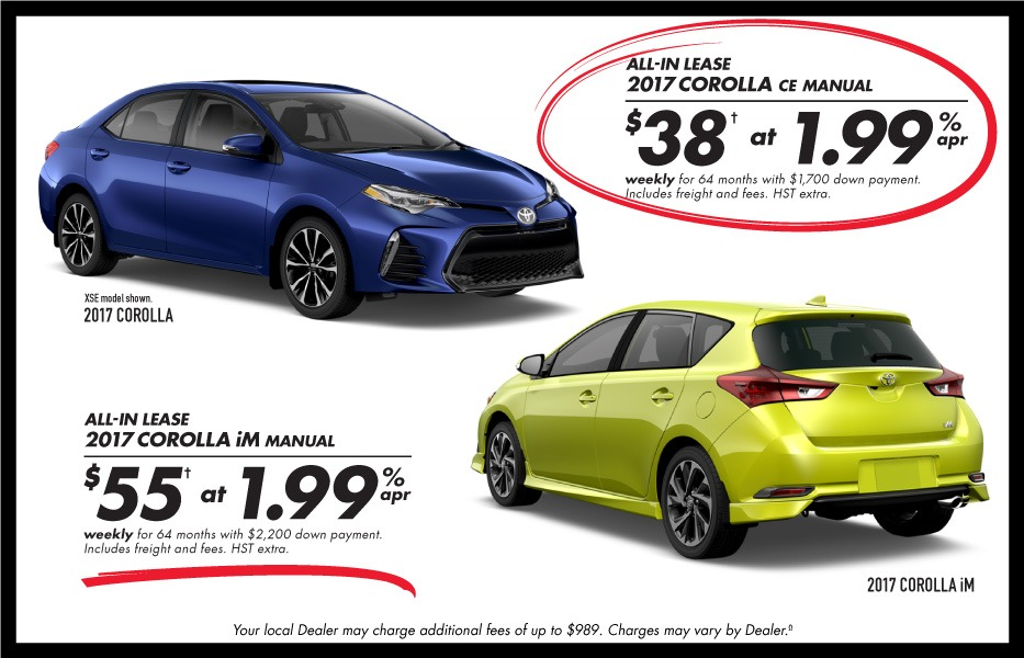 Finance December Toyota Canada Incentives in Milton Ontario, and the GTA.