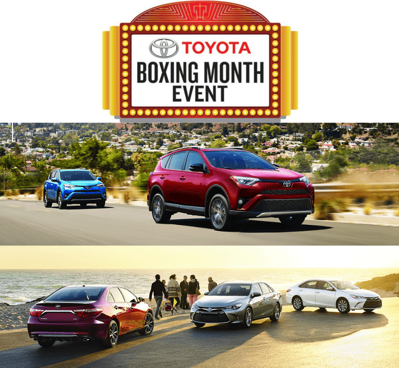 Toyota Boxing Month Event: Toyota Canada Incentives for January 2017