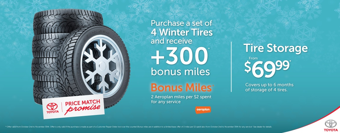 Get Bonus Areoplan Miles with your Winter Tire purchase!