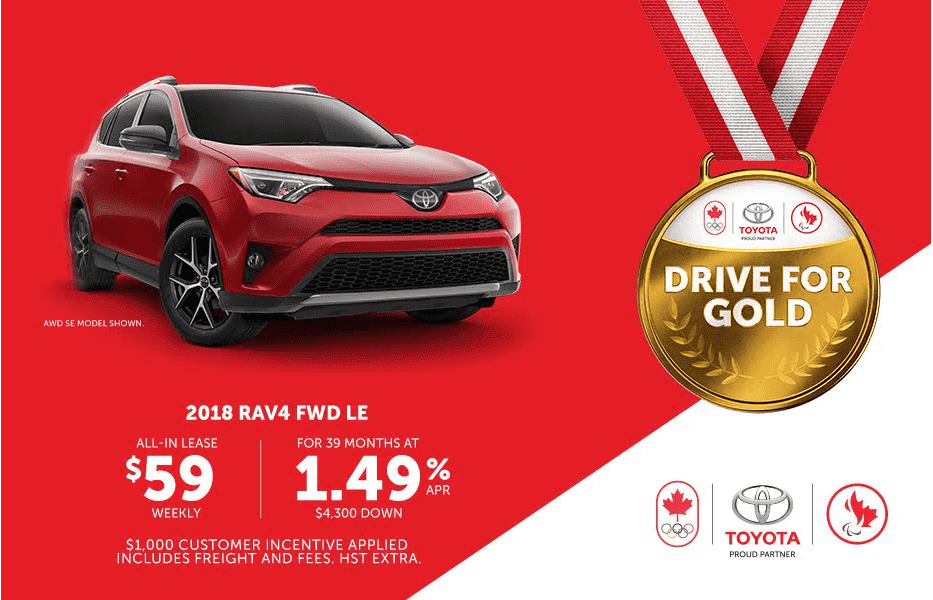 Toyota Canada Incentives for July 2017