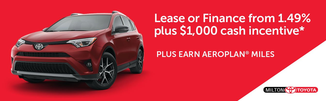 Toyota Canada Incentives in Milton and the Greater Toronto Area GTA
